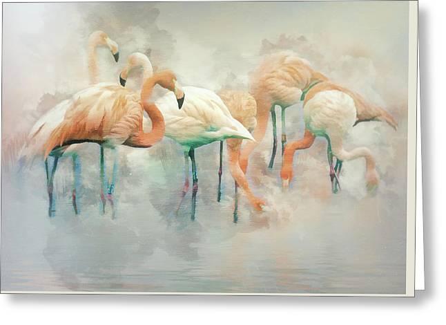 Flamingo Fantasy Greeting Card