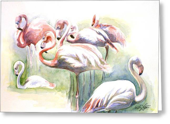 Flamingo Fiesta Greeting Card