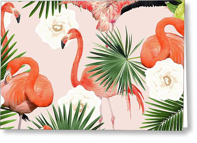 Flamingo Guava Greeting Card