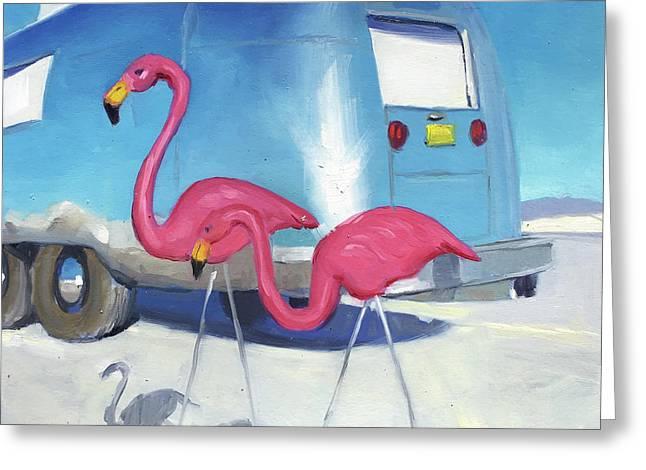 Flamingo Migration Greeting Card
