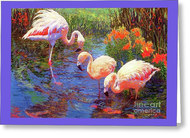 Flamingos, Tangerine Dream Greeting Card