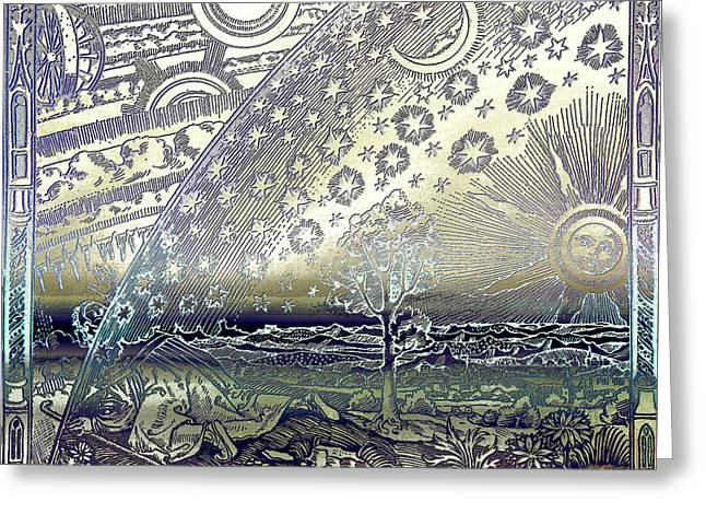 Flammarion Engraving Colored Greeting Card
