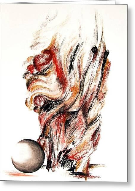 Flamme En Bois Greeting Card by Muriel Dolemieux