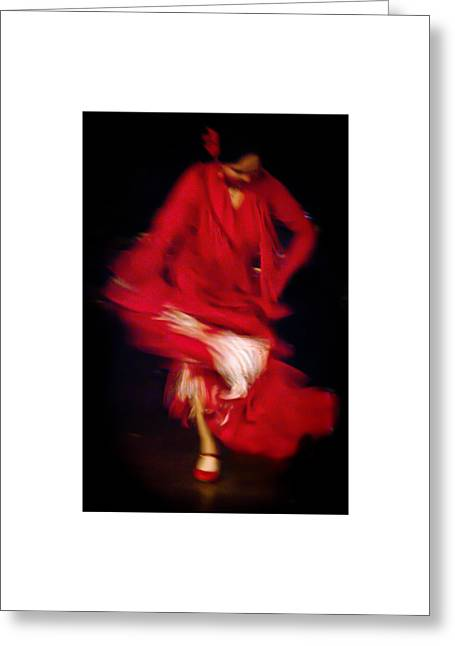 Greeting Card featuring the photograph Flamenco Series 32 by Catherine Sobredo