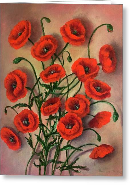 Flander Poppies Greeting Card