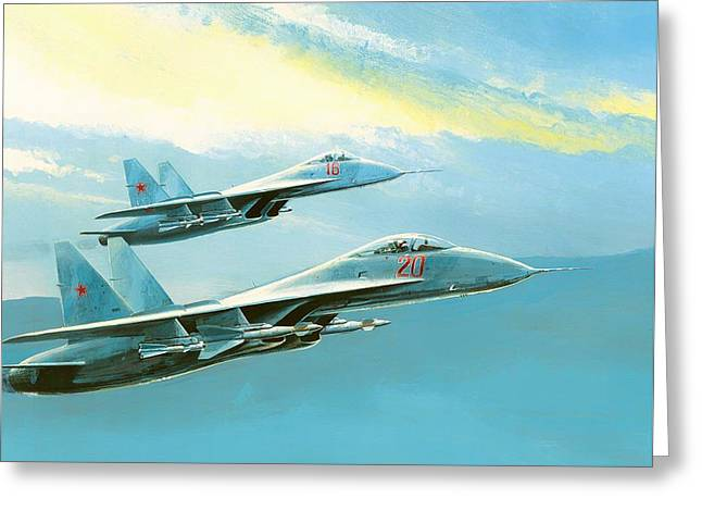 Flankers In Formation Greeting Card by Mountain Dreams