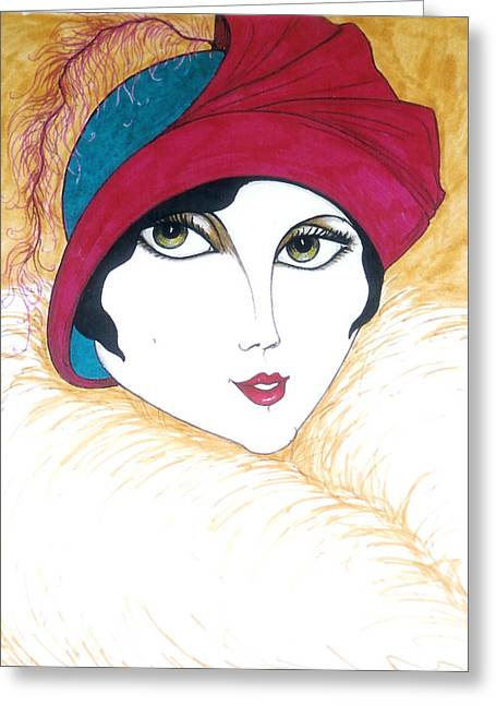 Flapper Girl 1 Greeting Card