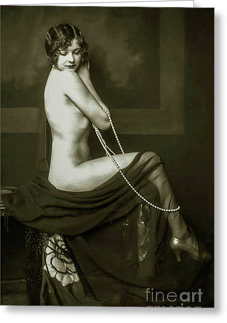 Flapper Pin Up  Greeting Card