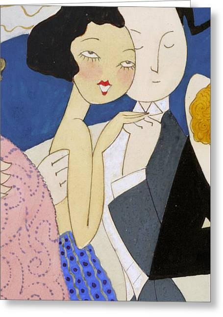 Flapper Roaring 20s Couple Dancing Phone Case Greeting Card by Edward Fielding