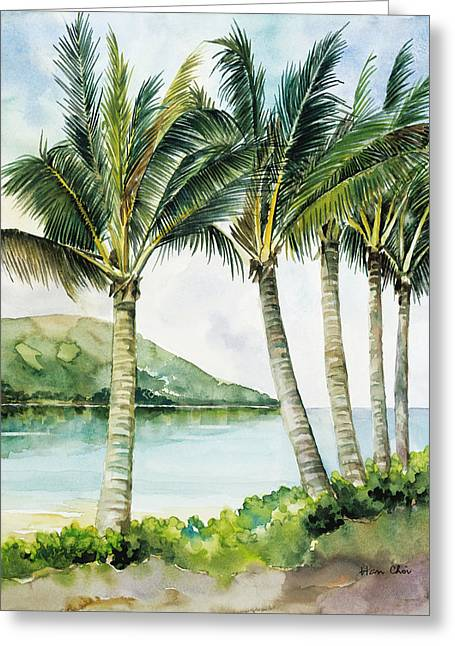 Flapping Palm Trees Greeting Card by Han Choi - Printscapes