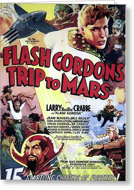 Flash Gordon's Trip To Mars 1938 Greeting Card by Mountain Dreams