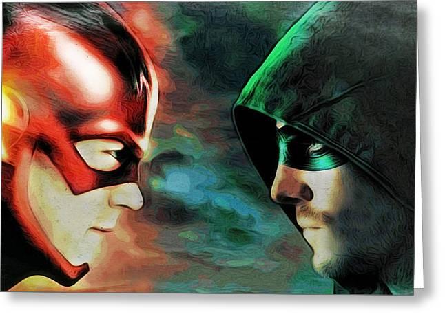 Flash Vs Arrow Greeting Card