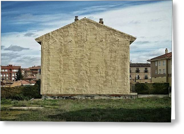 Flat House #architecture #building Greeting Card