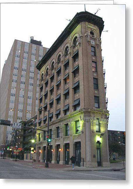 Flat Iron Building Fort Worth Texas Greeting Card by Shawn Hughes
