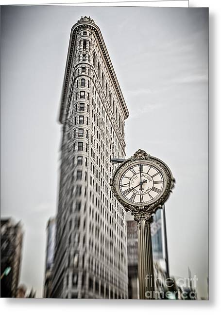 Greeting Card featuring the photograph Flat Iron Building by Juergen Held