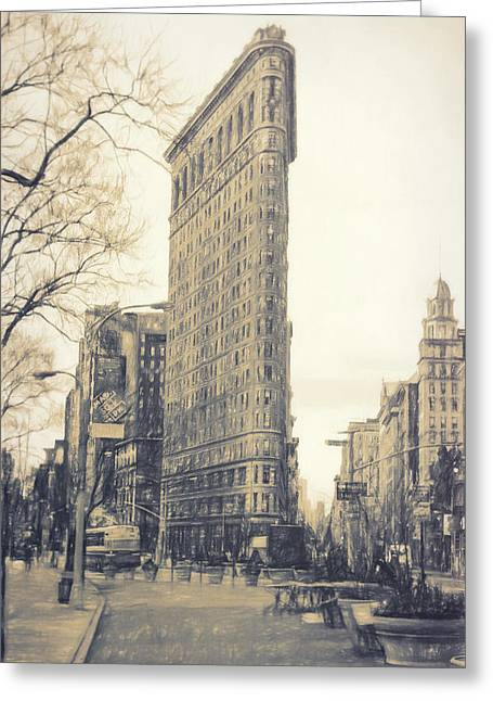 Flat Iron Building North Side - Sketch Greeting Card