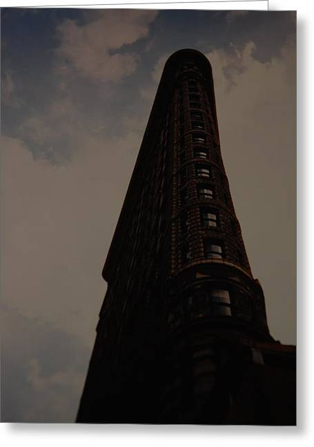 Flat Iron Building Greeting Card by Rob Hans