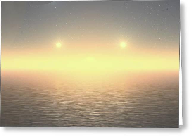 Greeting Card featuring the digital art Flat Lights by Robert Thalmeier