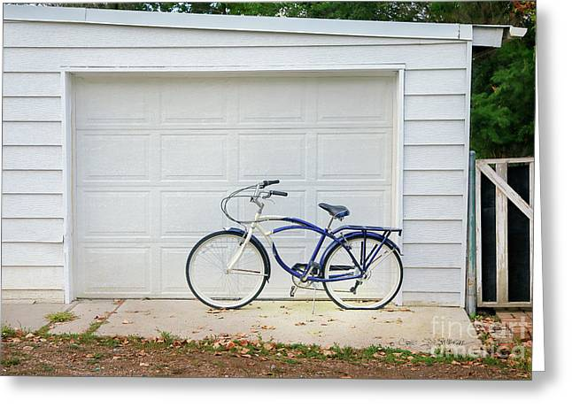 Greeting Card featuring the photograph Flat Tire Bicycle by Craig J Satterlee