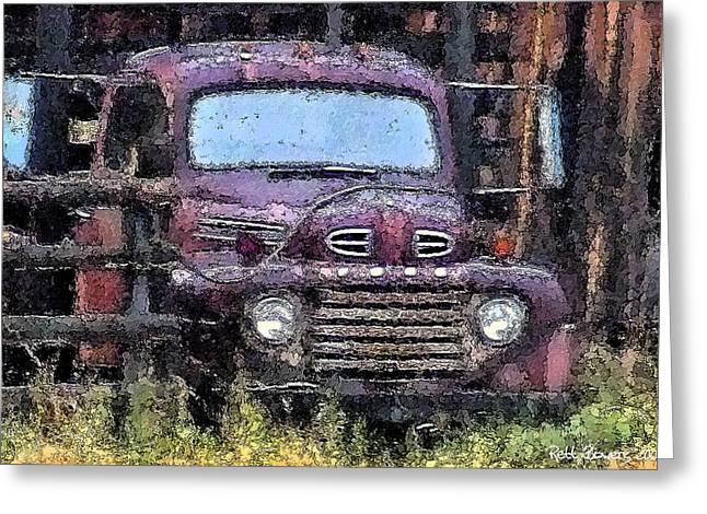 Flatbed Ford Greeting Card by Everett Bowers