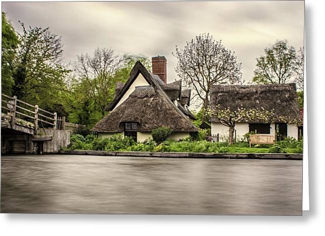 Flatford Mill Greeting Card by Martin Newman