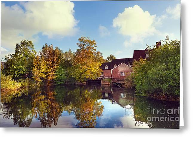 Flatford Mill Greeting Card by Svetlana Sewell