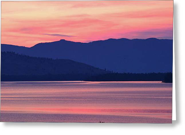 Flathead Lake At Sunrise Greeting Card