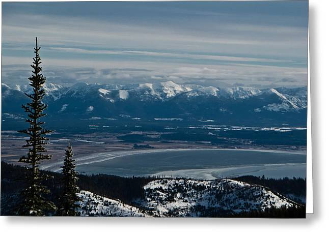 Flathead Valley In The Winter Greeting Card