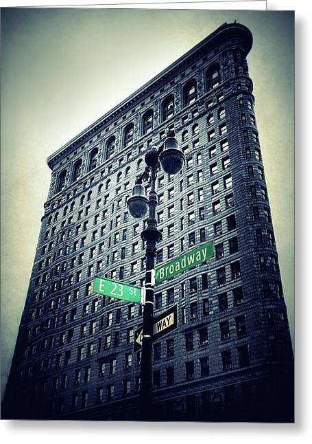 Greeting Card featuring the photograph Flatiron Directions by Jessica Jenney