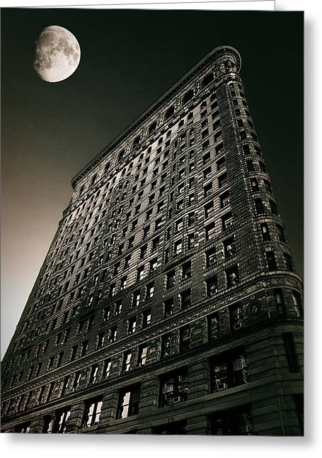 Flatiron Moonlight Greeting Card