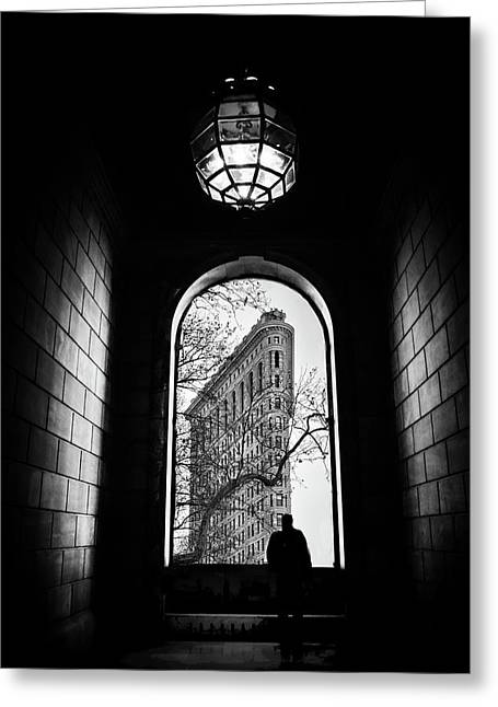 Greeting Card featuring the photograph Flatiron Perspective by Jessica Jenney