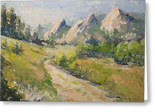 Flatirons In The Rockies Greeting Card