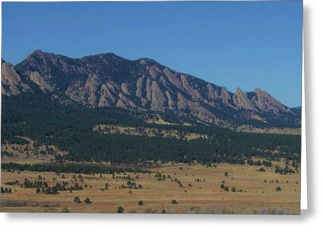 Greeting Card featuring the photograph Flatirons Of Boulder by Christopher Kirby
