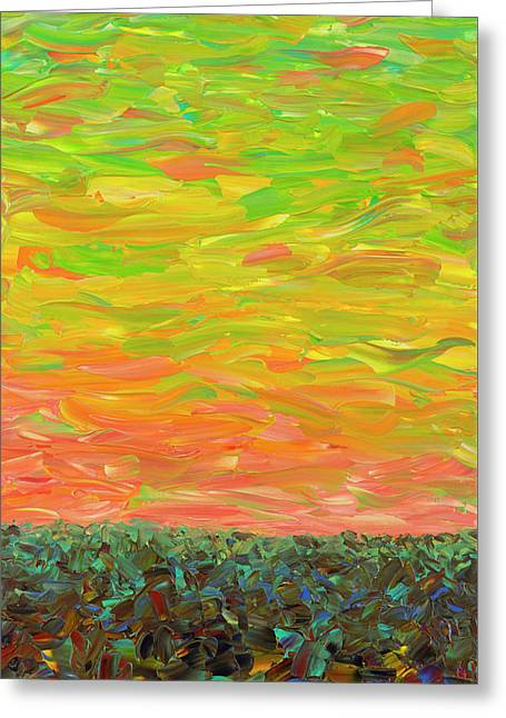 Flatland - Sunset Looking West Greeting Card