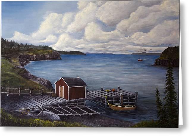 Flavor Of Newfoundland Greeting Card by John Reid