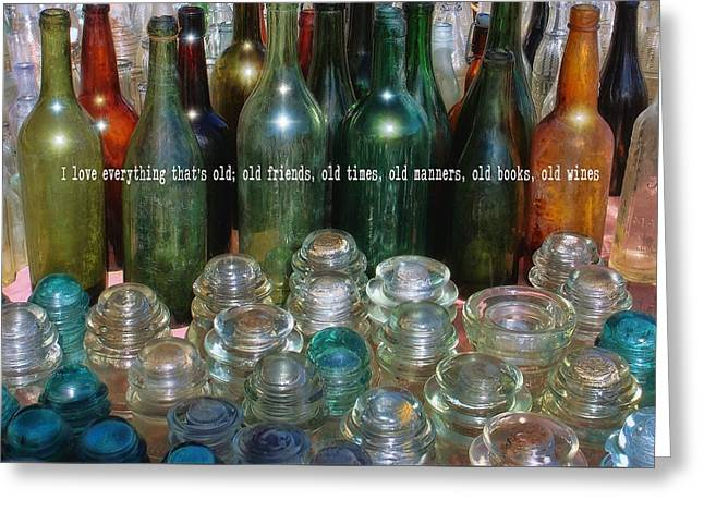 Flea Market Quote Greeting Card by JAMART Photography