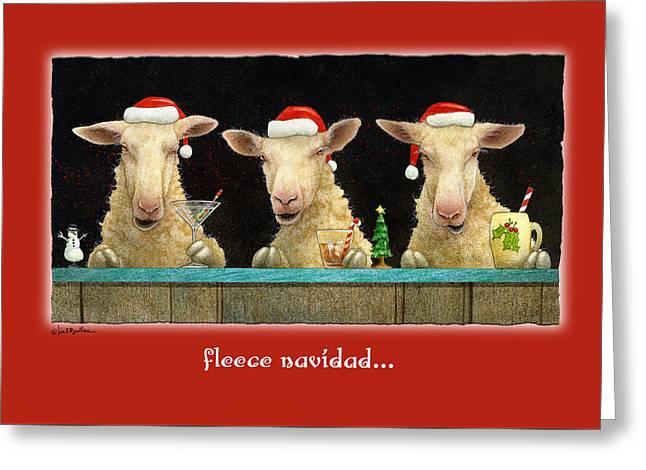 Fleece Navidad... Greeting Card