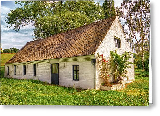 Flemish Cottage Greeting Card by Wim Lanclus