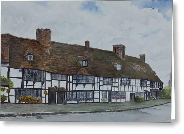 Flemish Weavers Cottages England Greeting Card by Debbie Homewood