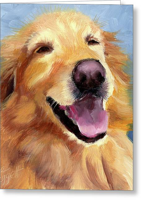 Fletcher Laughing Greeting Card by Alice Leggett