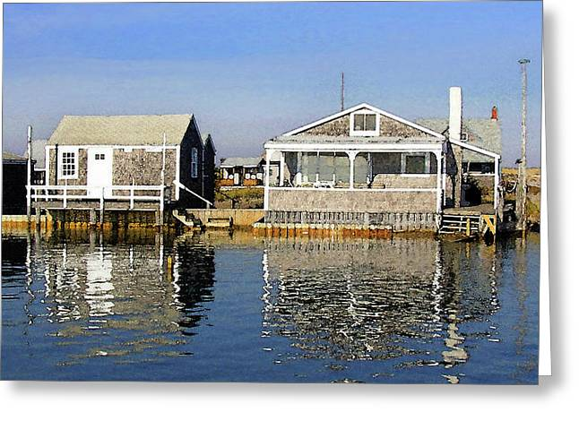 Fletchers Camp And The Little House Sandy Neck Greeting Card
