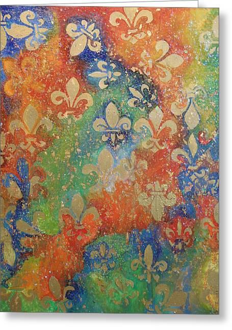 Fleur De Arcencial Greeting Card by Made by Marley