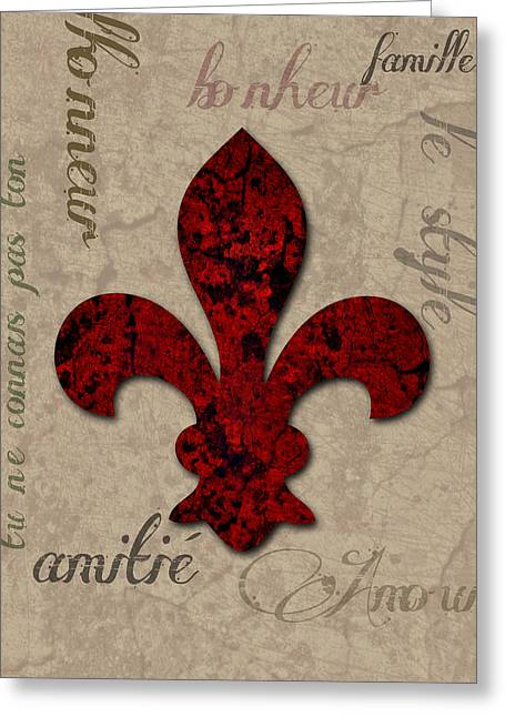 Fleur De Bella Greeting Card by Greg Sharpe