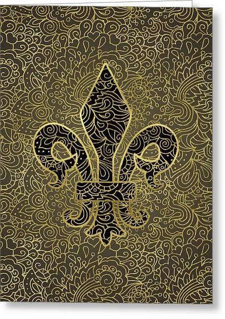 Fleur De Lis - A Gold Whisper Greeting Card