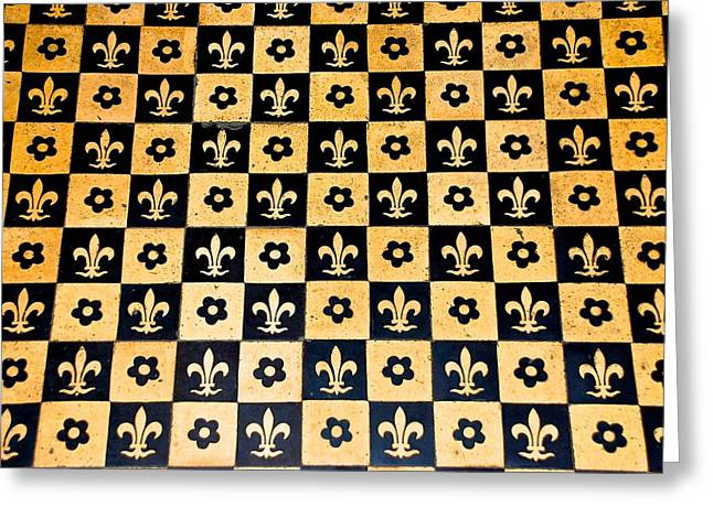 Fleur De Lis Floor Greeting Card by Eric Tressler