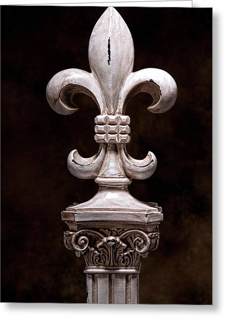 Fleur De Lis Iv Greeting Card by Tom Mc Nemar