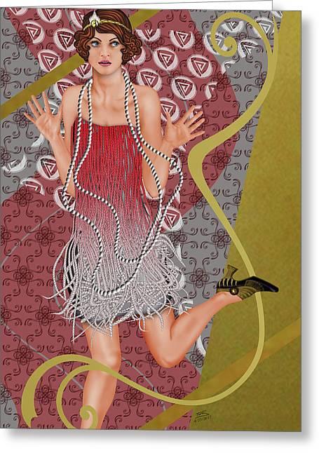 Fleur De Rouge Greeting Card