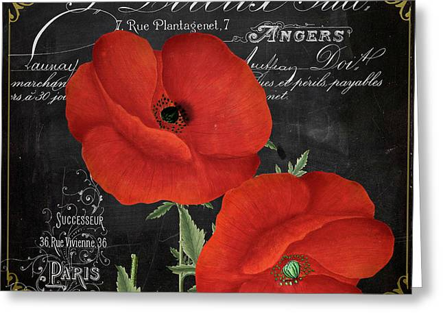 Fleur Du Jour Poppy Greeting Card by Mindy Sommers