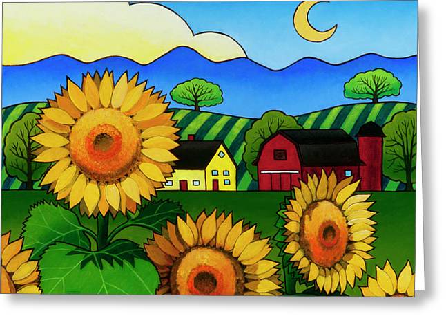 Fleur Du Soleil Greeting Card by Stacey Neumiller