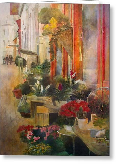 Fleuriste Greeting Card by Victoria Heryet